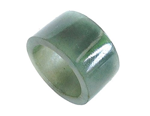 - Karatgem Jewelry Jade Thumb Ring 12mm Wide Men Mixed Color Archery (US Size 11)