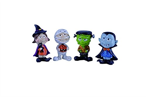 Mummy And Daughter Halloween Costumes (Trick or Treaters Witch, Mummy, Monster and Dracula Resin Halloween Figurine Set of 4)