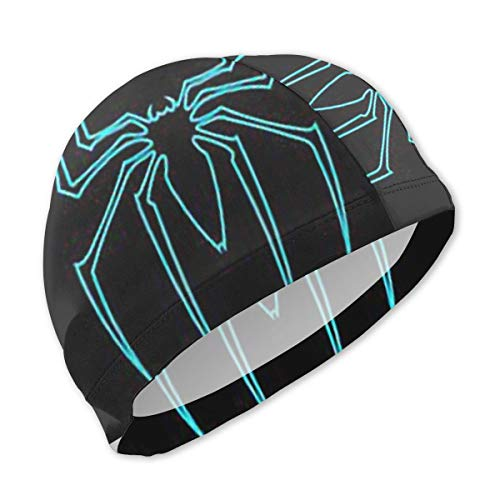 Lbbb1994 Kids Fun Swim Cap for Boys and Girls - Waterproof Comfy Swimming with Spider-Man Print Bathing Cap for Short and Long Hair