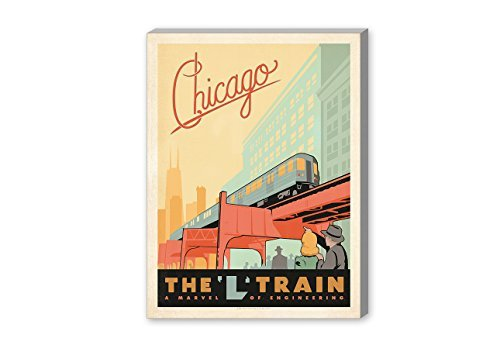 【50%OFF】 Americanflat Chicago L Chicago Train' Gallery Wrapped canvas 24 Artwork by canvas Joel Anderson 20 X 24 X 1.5 [並行輸入品] B07GZJM7Q4, ヤスオカムラ:45d27d6d --- ballyshannonshow.com