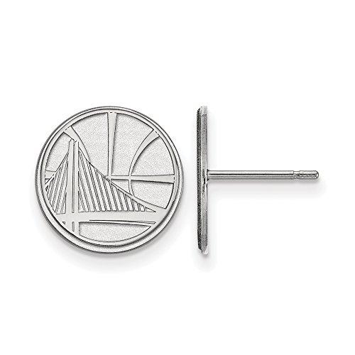LogoArt NBA Golden State Warriors Small Post Earrings in Sterling Silver by LogoArt