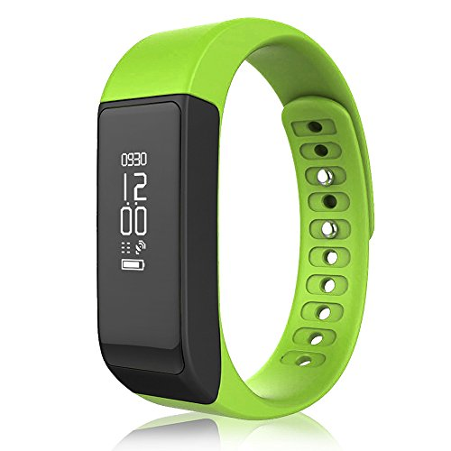 LENDOO I5 Plus Smart Bracelet Step Pedometer IP65 Waterproof Fitness Tracker Touch Screen Sports Wristband Bluetooth 4.0 Tracking Calorie Health Sleep Monitor for Android IOS Phones(Green)