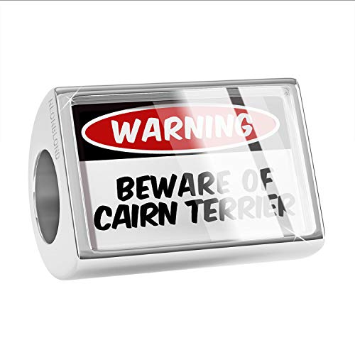 (NEONBLOND Charm Beware of The Cairn Terrier Dog from Scotland Bead )