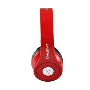 OVLENG X8 CF 3.5 mm On-ear Foldable Headphones with Microphone for iPhone, PC, Cell Phone, MP3 Player (Red) by Ozone48