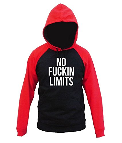 Price comparison product image No Fuckin Limits Workout Men's Red / Black Raglan Hoodie Sweater V282 Small Black