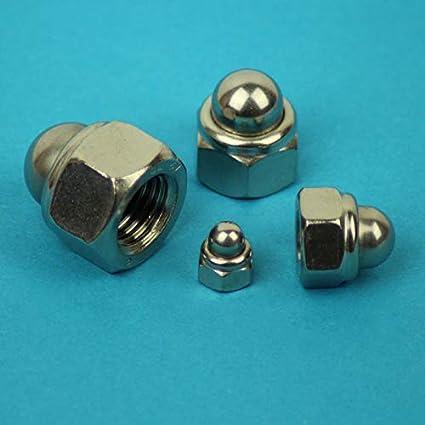 rostfrei Eisenwaren2000 Edelstahl A2 V2A M12 Sechskant-Hutmuttern selbstsichernd 5 St/ück - DIN 986
