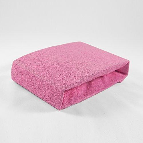 Frottee Spannbettlaken 70 x 140 cm rosa Laken Bettlaken Babybett Spannbetttuch Betttuch