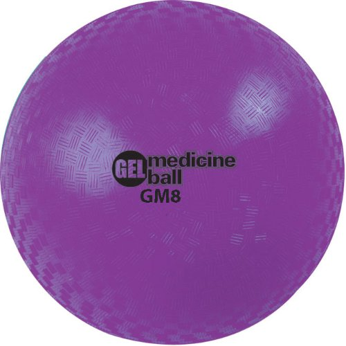 Champion Sports Gel Filled Medicine Ball (Purple 8 lbs)