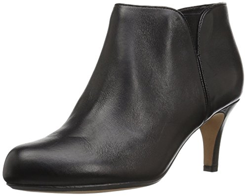 Clarks Womens Arista Paige Ankle Bootie, Black Leather, 12 M US
