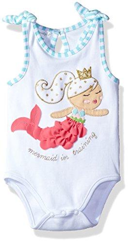 Mud Pie Baby Girls' One Piece Bodysuit Crawler, Mermaid, 9-12 Months