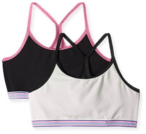 Hanes Big Girls' Comfort Flex Fit Seamless Thin Strap Racerback 2-Pack