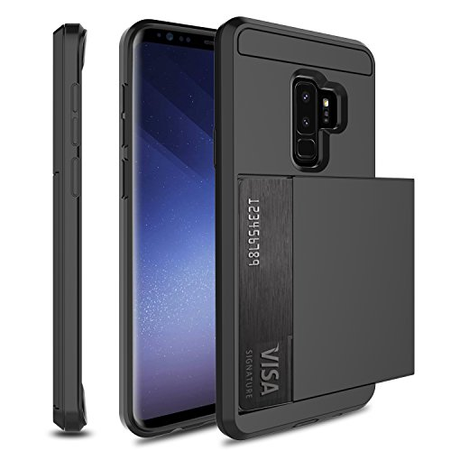 Innens Galaxy S9 Plus Case, Galaxy S9+ wallet Case, High Impact Resistant Hybrid Rubber Bumper Armor Protective Case Cover with Credit Card Slots Holder for Samsung Galaxy S9+/SM-G965F/SM-G965U