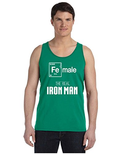 Promotion & Beyond Female Real Iron Man Funny Elements Men's Tank Top, M, - Wtc Ironman
