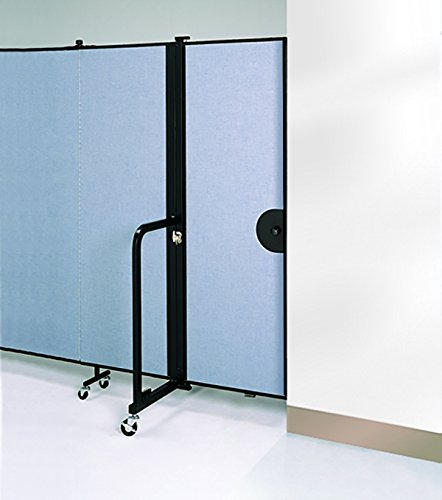 Screenflex CDR74-DS Door Option, 82'' Height, 3/4'' Width, 22'' Length, Primary Blue by Screenflex