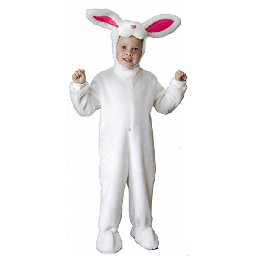 Toddler Plush White Rabbit Halloween Costume (Size: 4T)