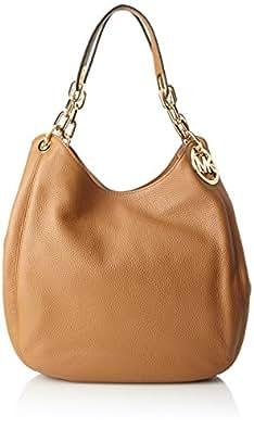 Michael Kors Fulton Leather Shoulder Bag- Acorn