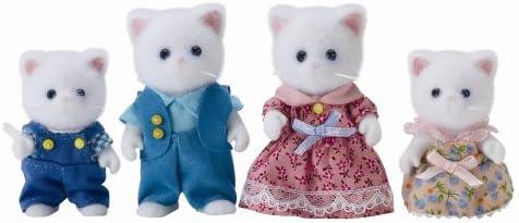 Flair 4472 Sylvanian Families - Familia de gatitos persas (importado de Reino Unido, 4 figuras)