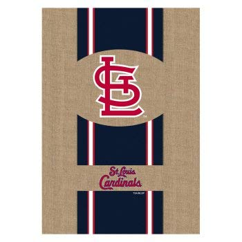 Enterprises Spring Evergreen - Team Sports America Evergreen Burlap St. Louis Cardinals Garden Flag, 12.5 by 18 inches