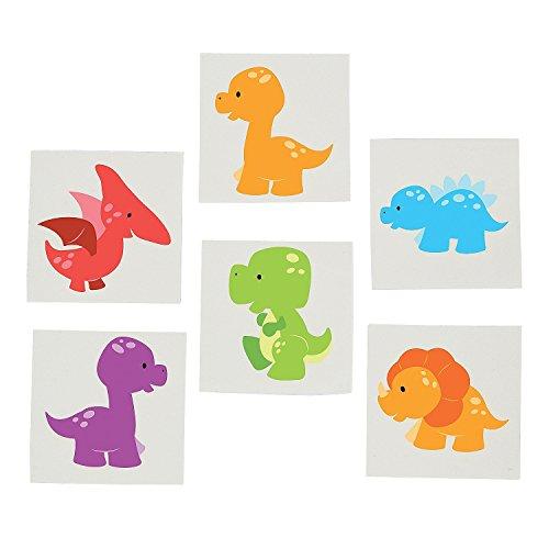 Little Dino Tattoos - 72 pc
