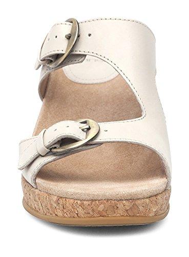 Sandals Women's Dansko Carla Wedge Full High Grain Ivory Heel XZzXw4rcq