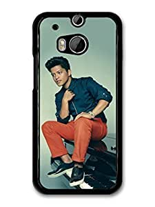 AMAF ? Accessories Bruno Mars Sitting On Piano Portrait case for HTC One M8 by mcsharks