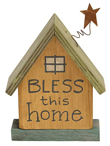 Table Top Sign Decor- Pretty Wooden Houses for your home decor, in Three Assorted Colors and featuring different home phrases. Indoor/ Outdoor Home décor. Houses read: