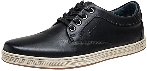 Black Leather Casual Oxfords - JOUSEN Men's Sneakers Leather Classic Casual Oxford Shoes (10.5,Black)