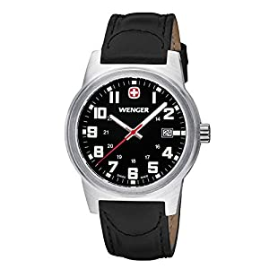Wenger Men's Classic Field Watch with Leather Bracelet
