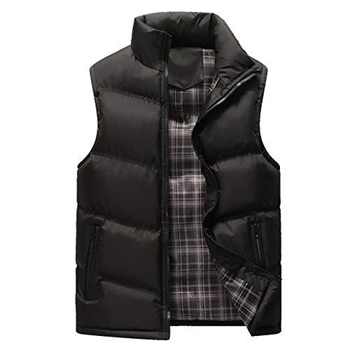 (Sunhusing Men Casual Simple Stand Collar Pure Color Zipper Pocket Sleeveless Jacket Top Waistcoat)
