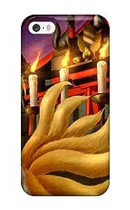 New Premium Flip Case Cover Touhou Animal Ears Arinu Blondeblush Fire Foxgirl Mask Multiple Tails Shorttail Touhou Yakumo Ran Skin Case For Iphone 5/5s