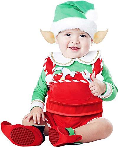 Santa'S North Pole Lil' Helper Cheerful Little Elf Christmas Costume Infant -