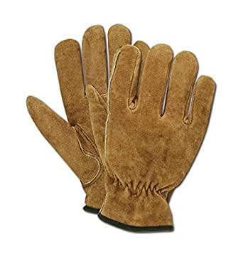 12 Pairs Magid RoadMaster Tan Cow Split Leather Drivers Gloves XL