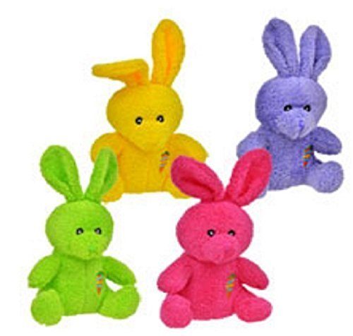 Easter Bunny Puppet (Greenbrier Bright Colored Plush Easter Bunnies, 4 Piece)