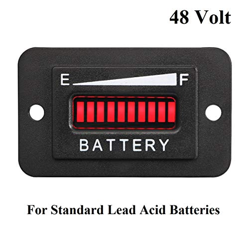 Neoikos 48V Volt LED Battery Indicator Meter Gauge Golf Cart (Ez Go Golf Cart Electric Motor Troubleshooting)