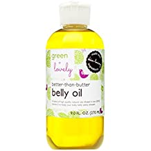 Better than Butter Belly Oil by Green + Lovely - Unscented Scent, 9 fl oz. Pregnancy Aromatherapy Oil enhanced with Vitamin E to prevent Stretch Marks and Skin Elasticity