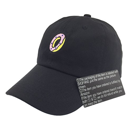 Galleon - Donut Hat Baseball Cap Dad Hats Embroidered Floppy For Men Women  Unstructured (Black) e959ce0a9921