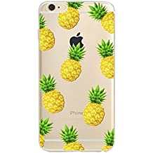 iPhone 4S Case, Eouine Ultra Slim Premium TPU Gel Rubber Soft Skin Silicone Protective Case Cover for Apple iPhone 4S 4 Fruit Back Cover,Pineapple