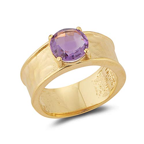 I REISS 14K Yellow Gold 1.5ct TGW Amethyst Ring