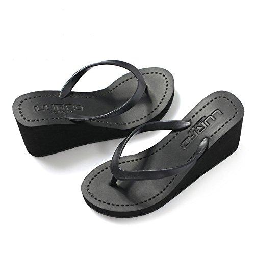 Black Size Compensées de Plage love Color Angel EU Sandales 38 pour Gray Femmes beauty nqxvIwARwO