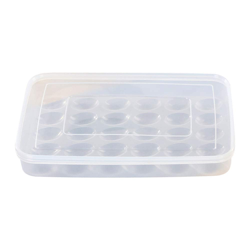 CAIDUD Large Capacity Fresh Egg Storage Box-Egg Container Egg Storage Box Egg Organizer Practical Convenient 30 Grid Plastic Space Saver Refrigerator Organizer
