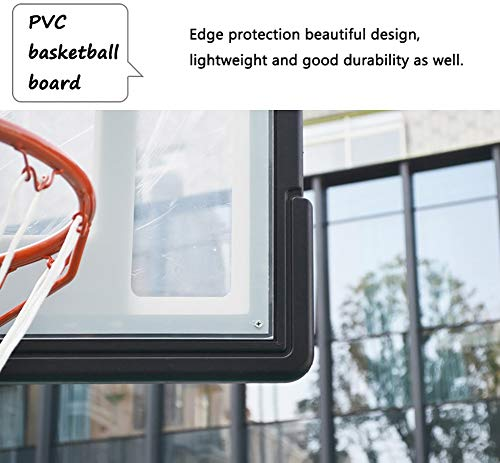 Basketball Stand Height Adjustable w/Wheels 165-210cm (65'' to 83'') | Outdoor Basketball Hoop Stand Toy Set for Kids Toddler by Basketball Stand (Image #7)