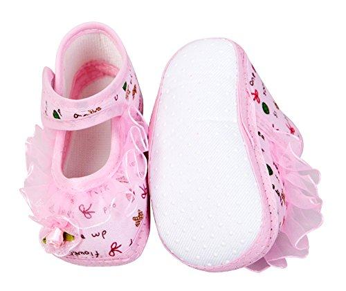 Open Toe sandalias, zapatillas y satén, lazos, rosa y morado, bebé niña, regalo set. Pink & Purple