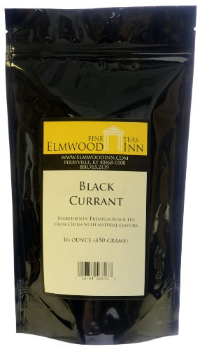 Elmwood Inn Fine Teas Black Currant Black Tea, 16-Ounce Pouches