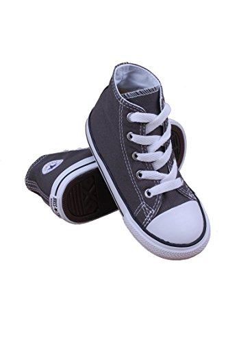 Converse Kid's Chuck Taylor All Star High Top Shoe, charcoal, 10 M US Toddler
