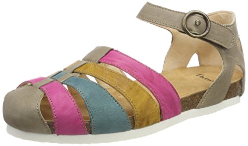 Think! Women's Shik_282595 Ankle Strap Sandals Multicolour (Macchiato/Kombi 25 Macchiato/Kombi 25) discount best sale cheap sale best store to get footaction cheap online enjoy shopping p3Bu2g8h