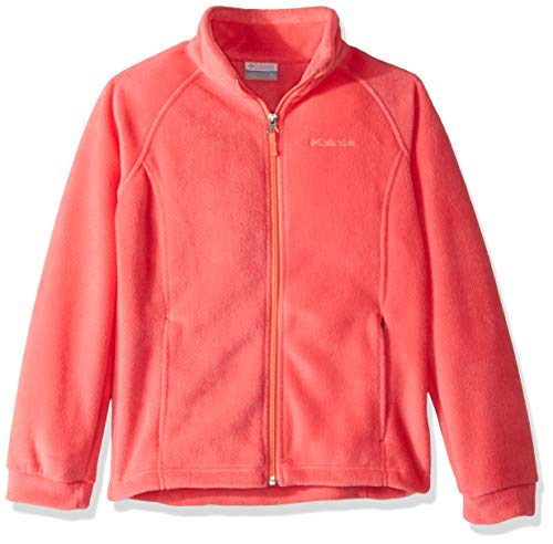Columbia Girls' Big Benton Springs Fleece, Bright Geranium/Hot Coral, Large ()