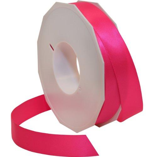 Morex Ribbon Neon Brights Satin, 7/8-inch by 50-yard, Neon Hot -