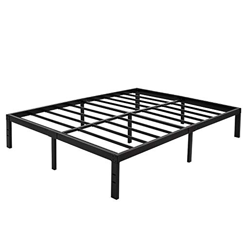 45MinST 14 Inch Platform Bed Frame/Easy Assembly Mattress Foundation / 3000lbs Heavy Duty Steel Slat/Noise Free/No Box Spring Needed, Twin/Full/Queen/King/Cal King(Full) (Frame Bed In)