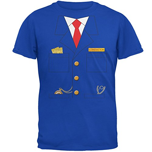Halloween Train Conductor Costume Royal Adult T-Shirt - X-Large -