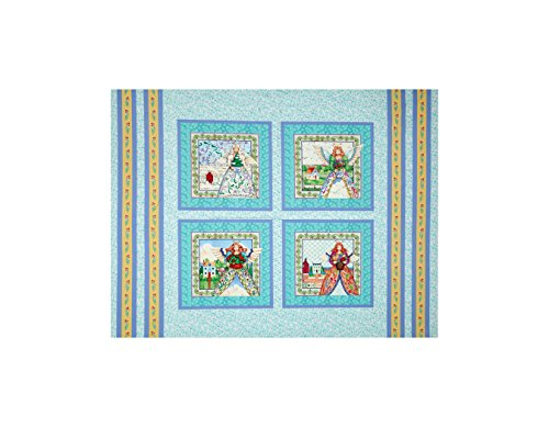 Springs Creative Products Jim Shore Angel Pillow 35 in. Panel Aqua Fabric